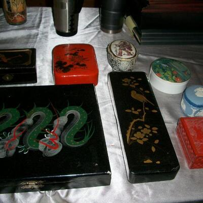 Chinese lacquer boxes
