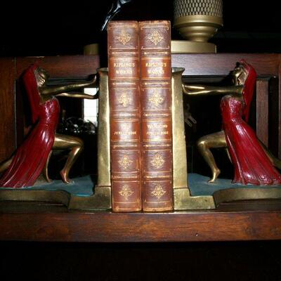 Antique Queen of the Nile bookends