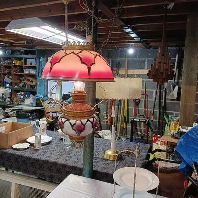 Antique Victorian Hanging Chandelier/Lamp