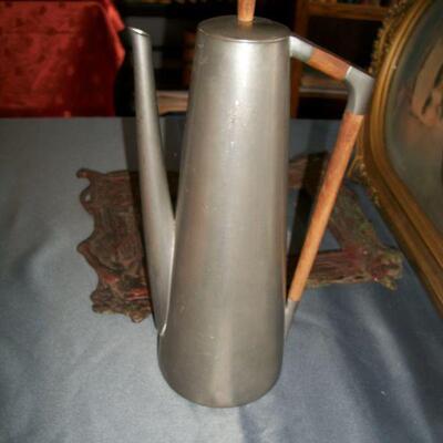 Mid Century Modern Pewter Coffee Pot