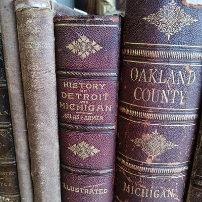 1884 History of Detroit and Michigan & 1891 History of Oakland County