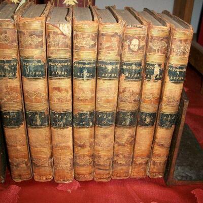 1811 - 8 Volumes Leather Set Plutarch's Lives