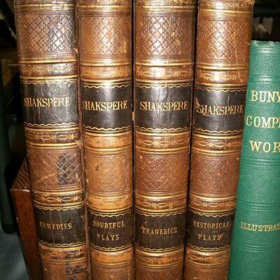 1860's (?) 4 Volume Leather Set Shakespere