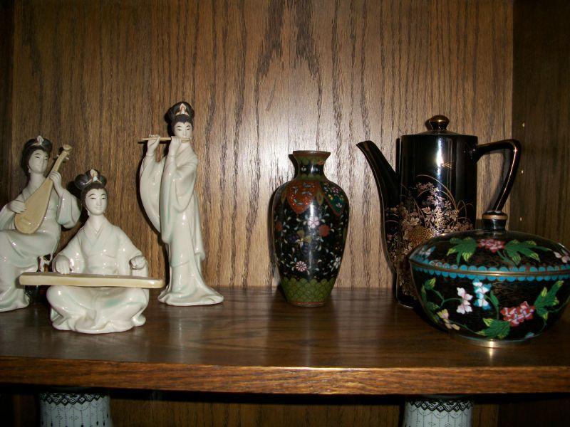 Asian Ceramics and Cloisonne Vases