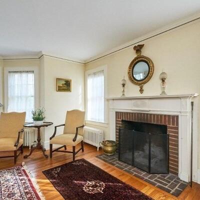 Pair of Martha Washington Chairs, Bulls Eye Mirror