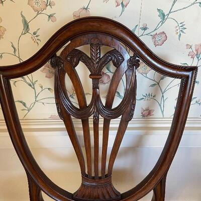 6 Shield Back Sheraton Chairs