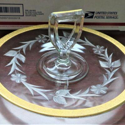 ANTIQUE IMPERIAL GLASS DISH