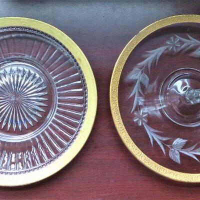 ANTIQUE IMPERIAL GLASS PLATES