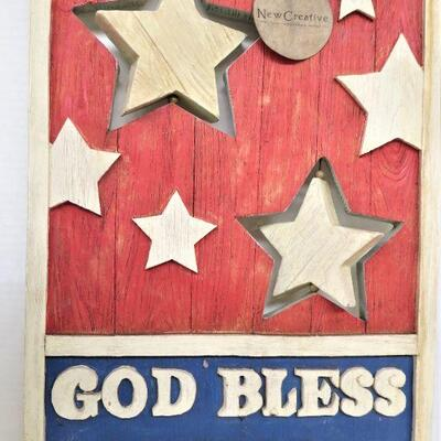 GOD BLESS AMERICA WOOD SIGN