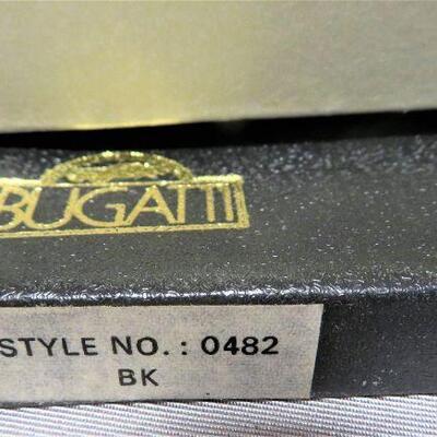 BUGATTI MEN'S BILLFOLD BLACK LEATHER WALLET