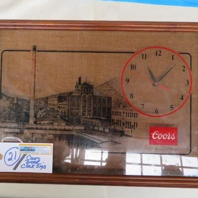 COORS CLOCK SIGN