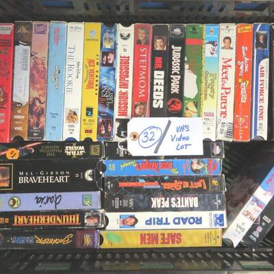 MOVIES VHS LOT