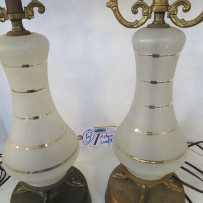 FROST GLASS ANTIQUE LAMPS