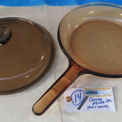 PYREX AMBER VISION PAN & COVER