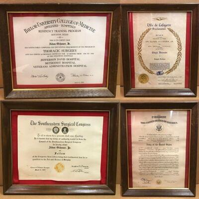 https://www.ebay.com/itm/114791775435	CC7001 Alton Ochsner Jr. Certification Awards Lot (4 pieces)		Buy-It-Now	 $100.00