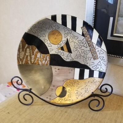 decor plate with stand