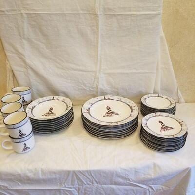 service for 8 lighthouse theme dinner ware