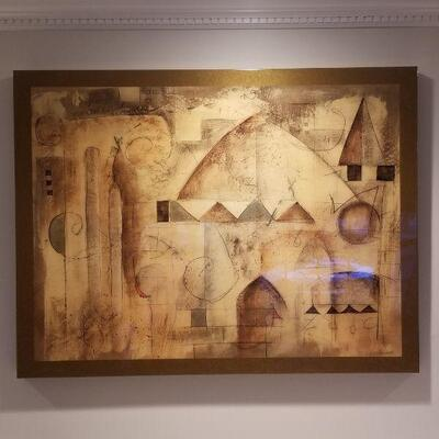 Large lacquer wall art
