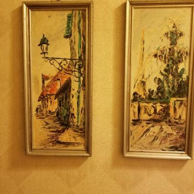 2 of a 3 piece set- Oil paintings from New Orleans