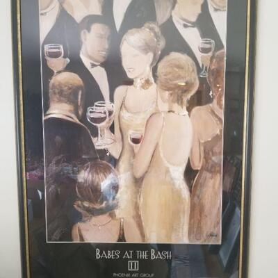 Framed Picture- Babes at the Bash