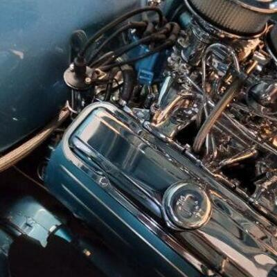 1965 Pontiac GTO engine detail