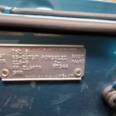 Light blue 1965 Pontiac GTO detail