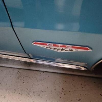 1965 Pontiac GTO label detail