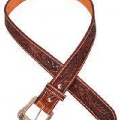 168 Showman ® Men's Agrentina Cow Leather Belt with Acorn Tooling