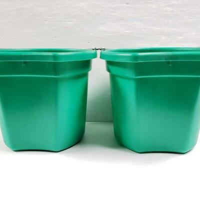 106 NEW Two (2) 20 Qrt. Flat back bucket, 11