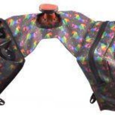110 Unicorn Print Cordura Nylon Insulated Horn Bag Unicorn Print Cordura Nylon Insulated Horn Bag Size: standard