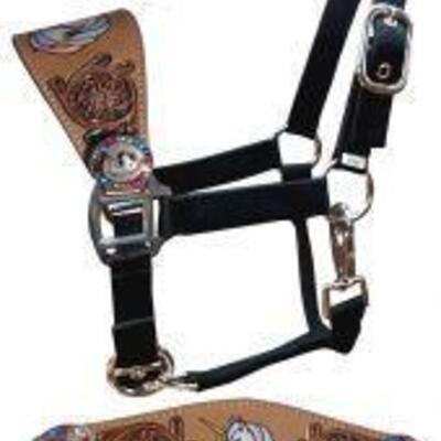 186 Showman ® Pony Size Unicorn bronc halter Showman Pony Size Unicorn Bronc Halter