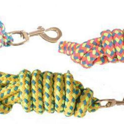 122 TWO 8' Braided Softy Cotton Lead Rope Measure 8' only includes 2 ropes