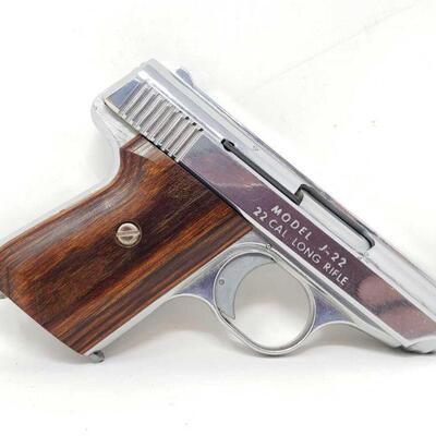 302 Jennings J-22 Semi-Auto .22lr Pistol Serial Number: 132804 Barrel Length: 2.5