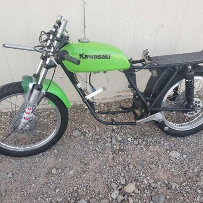 225 1975 Kawasaki Frame Kawasaki Frame VIN: F7-109049 Doc Fee:  $70