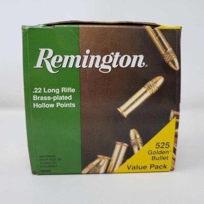 #8606 • 525 Rounds Of Remington .22 LR Brass-plated Hollow Points