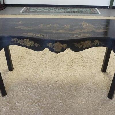 1009BLACK LACQUERED ASIAN CONSOLE TABLE, 40 IN X 23 IN X 32 IN HIGH