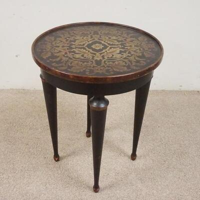 1014PAINTED DECORATED LAMP TABLE. 70 IN X 25 IN