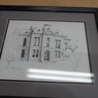 Vintage framed Drawing