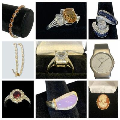 Documented Burmese Ruby & Diamond Ring, Sapphire, Emerald, Turquoise, Tanzanite, 10K - 22K Gold Jewelry, New Skaagen Watch, Jade and...