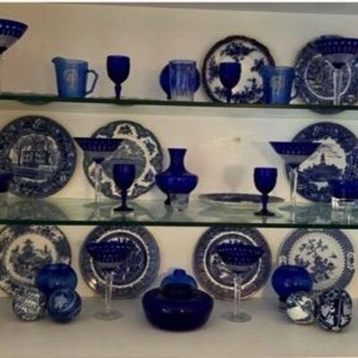 WCT002 - VINTAGE GLASSWARE, PLATES, and MORE