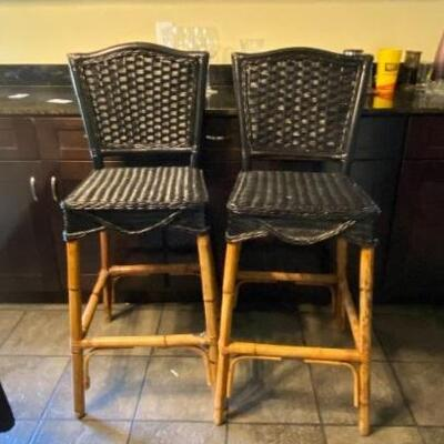 https://www.ebay.com/itm/124706932931TM9102 Vintage Rattan Barstools 3 Day Auction