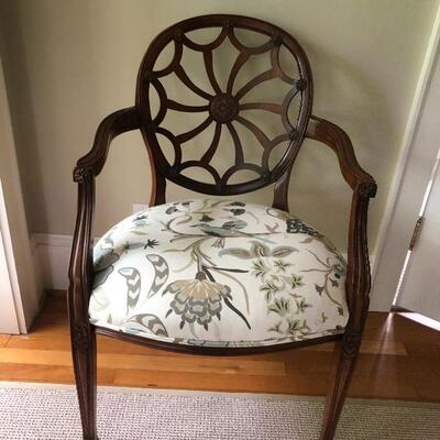 VINTAGE WHELL BACK CHAIRS.  UNIQUE AND IN GREAT CONDITION.