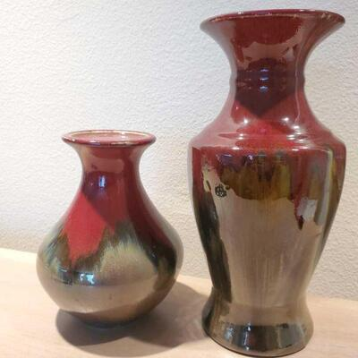 3036  2 Bombay Vases Measures approx 8