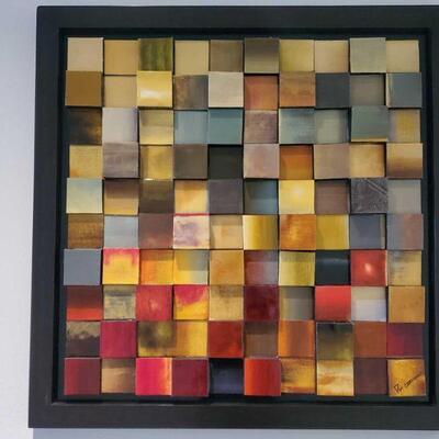 506  Pst. German Framed Artwork Measures approx 40