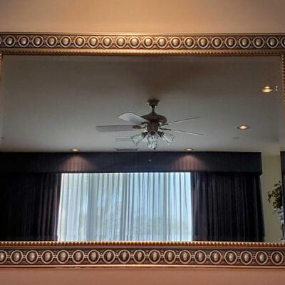 3010  Framed Mirror Measures Approx 42