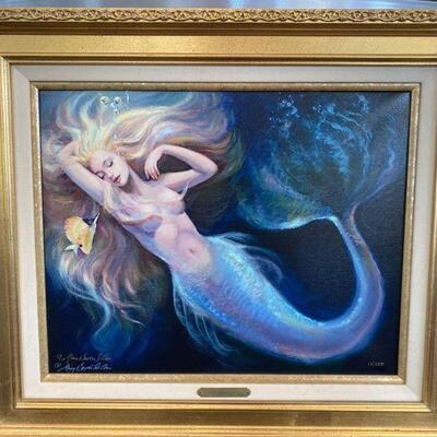 """2158  """"The Dream"""" by Mary Baxter St. Clair Print on Canvas in Frame with COA"""