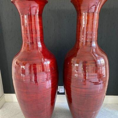1008  Two Large Vases Each are 46
