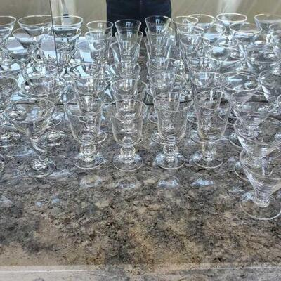 1026  Martini Glasses and Goblets - 33 Pieces Total Martini Glasses and Goblets - 33 Pieces Total