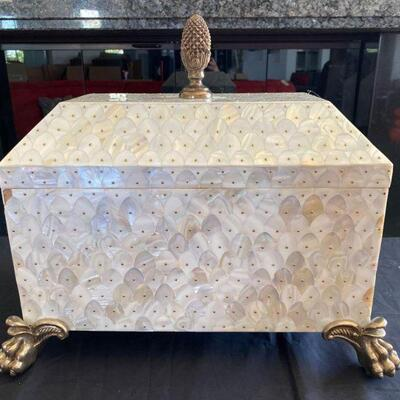 """2122  Decorative Chest Measures approx 20""""x13""""x17"""""""