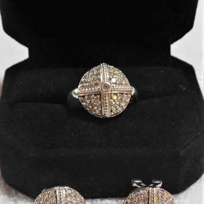 14k Diamond Ring and Earrings